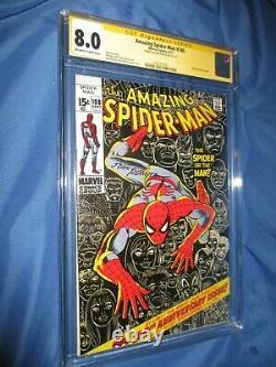 THE AMAZING SPIDERMAN #100 CGC 8.0 SS Signed by John Romita Sr ANNIVERSARY 1971