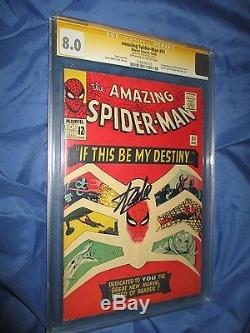 THE AMAZING SPIDERMAN #31 CGC 8.0 SS Signed by Stan Lee 1st Gwen Stacy 1965