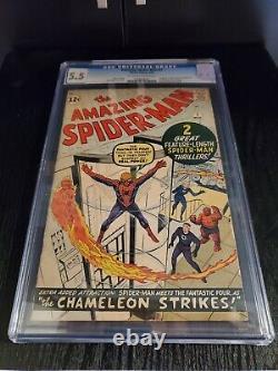 The Amazing Spider-Man #1 1963 CGC 5.5