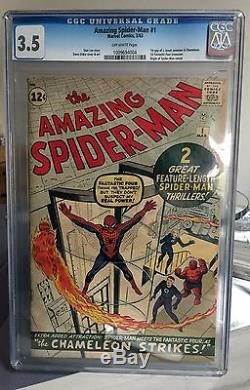 The Amazing Spider-Man #1 CGC 3.5 Off-White Steve Ditko Stan Lee 1st Issue