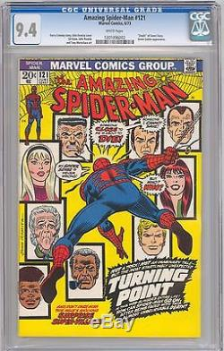 The Amazing Spider-Man #121 CGC 9.4 NM WHITE PAGES