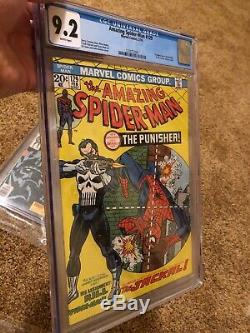 The Amazing Spider-Man #129 1st Appearance Punisher CGC 9.2 White Pages