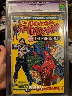 The Amazing Spider-Man #129 CGC 3.0 1st PUNISHER Purple Slab