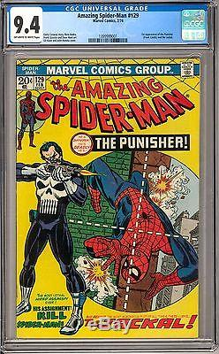 The Amazing Spider-Man #129 CGC 9.4 (OW-W) 1st Appearance of the Punisher
