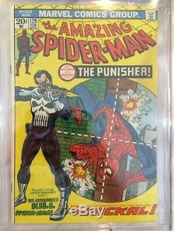 The Amazing Spider-Man #129 (Feb 1974, Marvel) CGC 8.0 WHITE pages 1st Punisher
