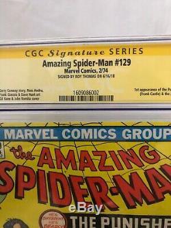The Amazing Spider-Man #129 (Feb 1974, Marvel) Cgc 8.5 Signed