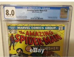 The Amazing Spider-Man #129 (Marvel February, 1974) 1st Punisher CGC 8.0