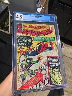 The Amazing Spider-Man #14 CGC 4.5 WHITE PAGES! WP! 1st App GREEN GOBLIN! KEY