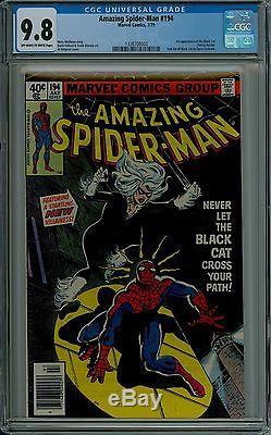 The Amazing Spider-Man #194 CGC 9.8 NM/MT near mint 1st Black Cat 1338708003
