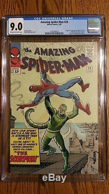 The Amazing Spider-Man #20 cgc 9.0 first scorpion. New movie