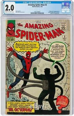 The Amazing Spider-Man #3 (July 1963, Marvel Comics) CGC 2.0 GD Doctor Octopus