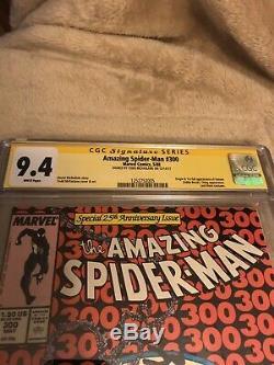 The Amazing Spider-Man #300 (1988) CGC 9.4 Signed By Todd McFarlane. First Venom