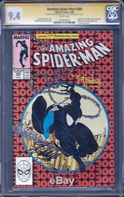The Amazing Spider-Man 300 SS X2 STAN LEE TODD MCFARLANE CGC 9.4 NM MARVEL VENOM