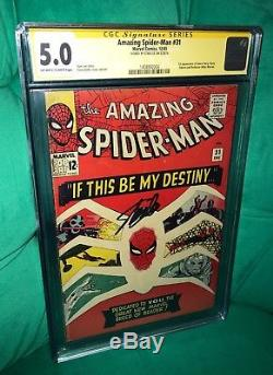 The Amazing Spider-Man 31.1st appearance Gwen Stacy. CGC SS 5.0. Stan Lee signed