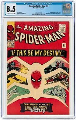 The Amazing Spider-Man #31 CGC 8.5 1st App GWEN STACY & HARRY! WORLDWIDE SHIPP