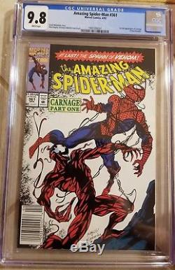 The Amazing Spider-Man #361 CGC 9.8 (Apr 1992, Marvel) 1st appearance of carnage