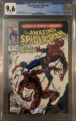 The Amazing Spider-Man #361 Marvel 1992 CGC 9.6 WHITE PAGES 1st Full Carnage
