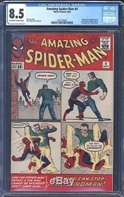 The Amazing Spider-Man 4 CGC 8.5 1st APP OF SANDMAN
