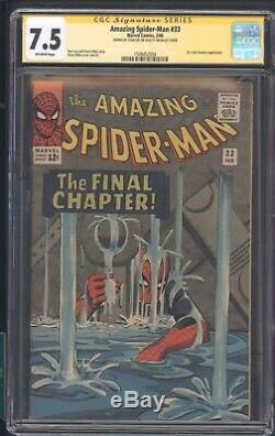 The Amazing Spider-man 33 Cgc 7.5 Ss Stan Lee App Dr. Curt Conners L@@k @ It