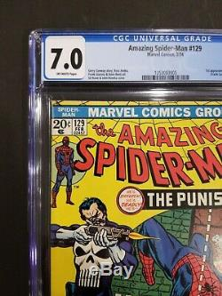 The Amazing Spiderman 129 CGC 7.0 1st Appearance of Punisher! Marvel Comics