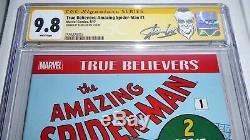 True Believers Amazing Spider-Man #1 CGC SS 9.8 Signature STAN LEE Reprint ASM 1