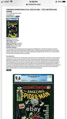 Westport Collection CGC 9.6 Amazing Spider-Man 194 Newsstand 1st Black Cat